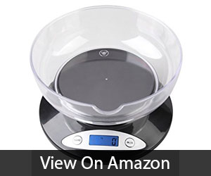 weighmax scale with glass bowl