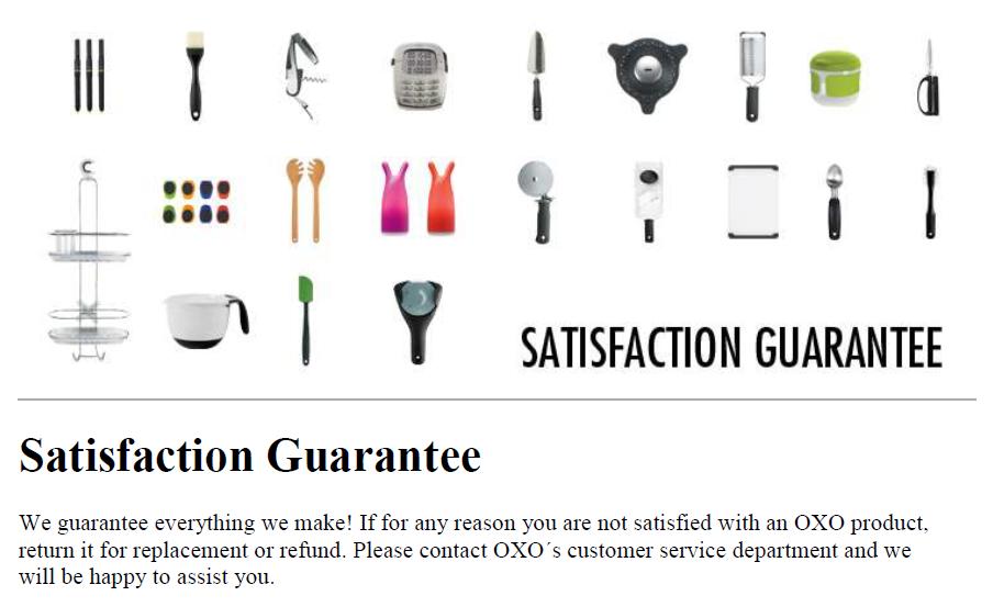 OXO Warranty